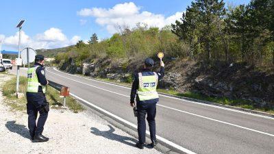 Vikend u prometu u prometu – 45 prometnih nesreća i 257 prekršaja