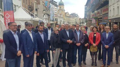 """Zlatko Komadina predstavio SDP-ove gradonačelnike i načelnike te poručio: """"Oleg i Gari, nisko ste pali!"""""""