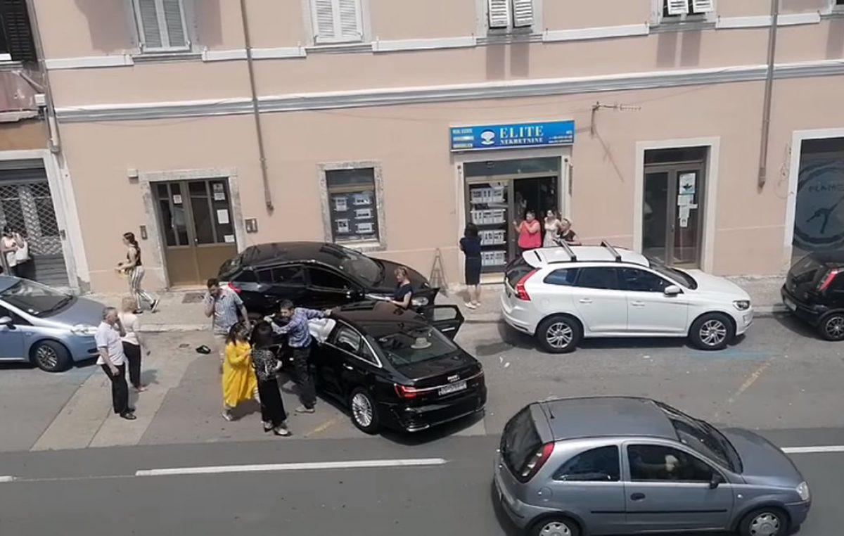 [VIDEO] Neobična prometna nesreća danas u Rijeci, srećom bez stradalih