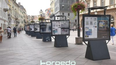 """[FOTO] Na Korzu otvorena izložba vizualnih rješenja za ovogodišnji STIFF na temu """"Tijelo"""""""