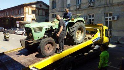 Torpedov traktor u muzejskoj zbirci