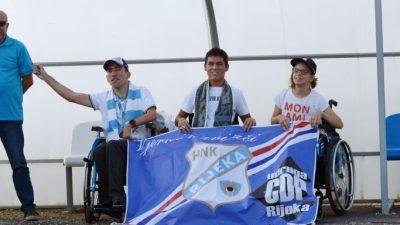 Vjerni navijači iz Udruge osoba s cerebralnom i dječjom paralizom bodrili Rijeku u Velikoj Gorici